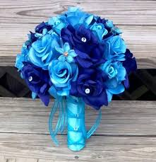 wedding flowers royal blue wedding bouquet malibu blue bouquet bridal bouquet royal blue