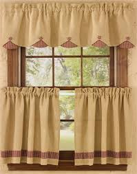 Lined Swag Curtains Homespun Country Curtains