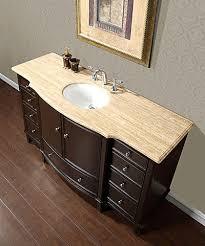 Single Bathroom Vanity With Sink Silkroad 60 Floating Single Sink Bathroom Vanity Espresso Finish