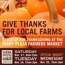 cuesa market happening special wednesday thanksgiving market
