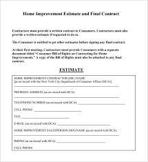 construction bid template excel 6 contractor estimate templates u2013 free word excel u0026 pdf