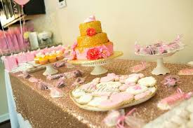 rose gold candy table gold baby shower decorations beay co