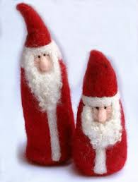 needle felted gnome ornaments tutorial burch