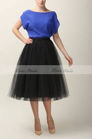 online shop 2015 solid black 5 layers tutu skirts women below knee
