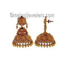 temple design gold earrings new arrivals online 22 karat gold collections