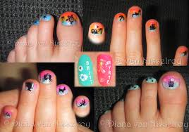 little toe nail designs