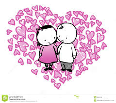 cartoon couple in love heart stock images image 8003374