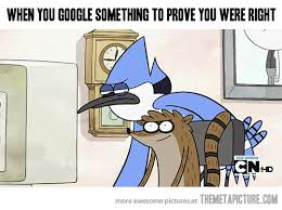 Funny Regular Show Memes - proving you were right the meta picture