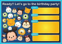 Winnie The Pooh Invitation Cards Free Printable Tsum Tsum Cartoon Invitation Dolanpedia