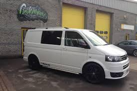 candy white vw t5 transporter raceline kombi