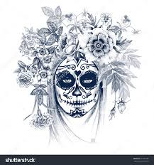 sugar skull stock photos images pictures shutterstock illustration