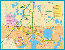 map of kissimmee custom travel maps kissimmeee florida map