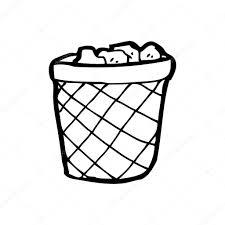 waste paper baskets waste paper basket cartoon u2014 stock vector lineartestpilot 20071727