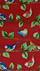 Blue Home Decor Fabric Home Decor Fabric Feathered Friends Berry Red Solarium Outdoor
