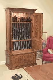 Wood Gun Cabinet Woodloft Com Secure Barrel Down Storage For Your Classic Gun
