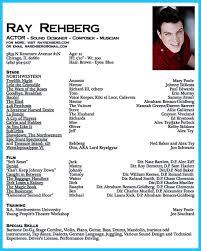 film resume examples actor resume sample cv resume ideas actor resume sample