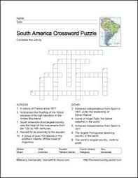 south america word search crossword puzzle and more vocabulary