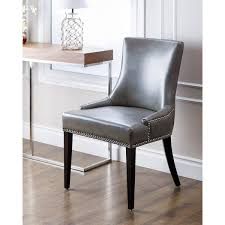 Dining Chairs Grey Chair Design Ideas Leather Nailhead Dining Chairs Ideas Leather