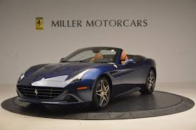 Ferrari California Dark Blue - pre owned inventory miller motorcars new bentley dealership in