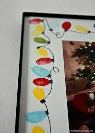 Homemade Christmas Gifts Grandparents - string of lights fingerprint frame christmas lights