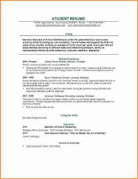 Resume Sample Student College by 28 Good Resume Templates For College Students 10 Good