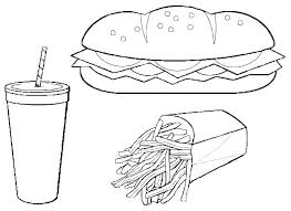 printable 34 junk food coloring pages 10121 junk food coloring