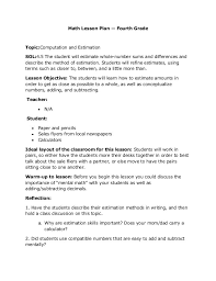 math unit plan template eliolera com
