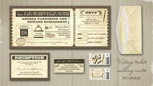 ticket wedding invitations read more vintage wedding tickets invitations wedding