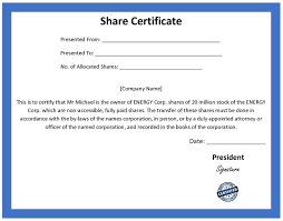 shares certificate template share stock certificate template 21