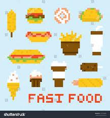 food vector pixel art fast food vector set stock vector 171933428 shutterstock
