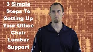 back support for office chair 3 simple setup steps youtube