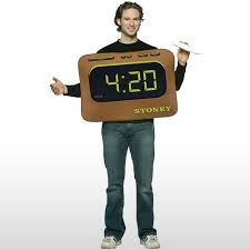 Piece Halloween Costumes Stoner Alarm Clock Costume Reading 4 20 Joint Accessory