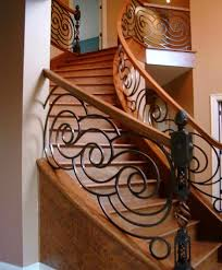 Decorative Iron Railing Panels Custom Staircase Swirl Wrought Iron Railings On Winding Stairs