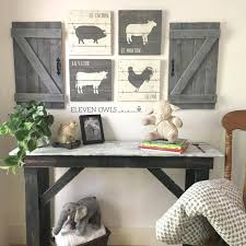 Rustic Nursery Decor Farmhouse Nursery Decor 4 Pcs Set Rustic Nursery Sets