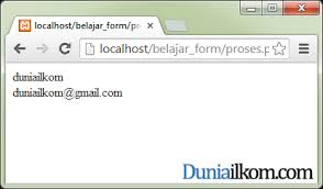 membuat form input menggunakan html tutorial php cara menilkan hasil form html dengan php duniailkom