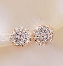 style of earrings 2014 new style korean gorgeous sparking rhinestone zircon