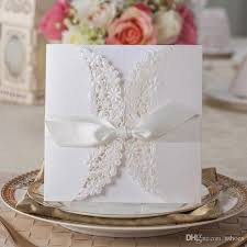 cheap wedding invitations online hot fashion wedding invitation cards white flower cut out with