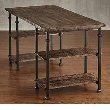Industrial Writing Desk by Industrial Modern Rustic Metal Oak Computer Writing Storage Desk