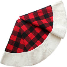 plaid tree skirt free shipping large 50 christmas tree skirt buffalo check