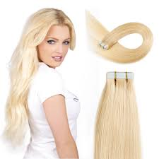 Dying Real Hair Extensions by Amazon Com Tape In Hair Extensions Human Hair 20 Inch 50g Pack