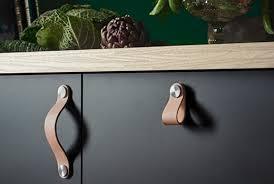 poignees meuble cuisine boutons et poignees meubles cuisine de cuir brun osternas ikea
