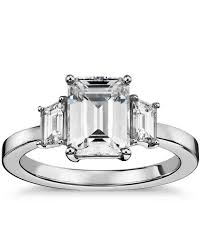 diamond ring cuts emerald cut engagement rings martha stewart weddings