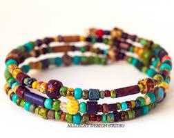 bangle beaded bracelet images Beaded bracelets etsy au jpg