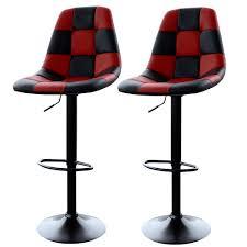 Black Bar Stool Amerihome Red Checkered Racing Bar Chairs 2 Piece Bsracerset