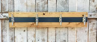 nautical boat cleat coat rack blue and pine towel rack hat rack