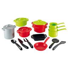 accessoire cuisine jouet ecoiffier jouet d imitation lot de casseroles et accessoires de