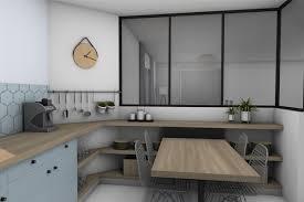 cuisine petit espace design verrière style atelier table cuisine petit espace 1 cuisine