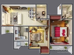 2 Bedroom Modern House Plans by 3d Small House Plans Morpheus Green Sector 78 Noida
