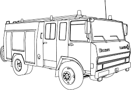berliet camiva 770 fire truck coloring wecoloringpage