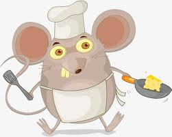 souris dans la cuisine prends le pot de souris cuisinier cuisiner dans la cuisine